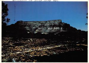 South Africa Cape Town On Floodlit Table Mountain Kaapstad