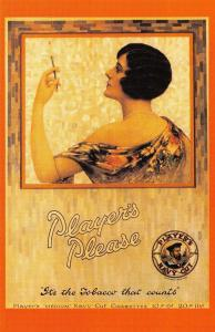 Nostalgia Postcard 1929 Advert for Players Cigarettes 1920s Repro Card NS10