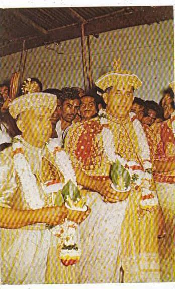 India Sri Lanka Ceylon Part Of The Kandy Perahera Kandyan Chieftain