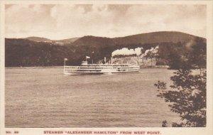 Hudson River Day Line Steamer Alexander Hamilton From West Point Albertype