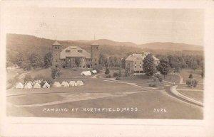 Northfield Massachusetts Camping Real Photo Vintage Postcard AA10426