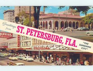 Pre-1980 WALGREENS & KRESS & SHOPS ALONG STREET St. Petersburg Florida FL ho7621
