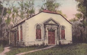 Goose Creek Church 1713 Charleston South Carolina Handcolored Albertype
