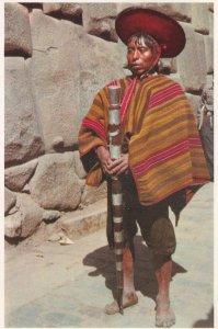 Alcalde Indigena Native Mayor Inca Peru Boy Cuzco Postcard