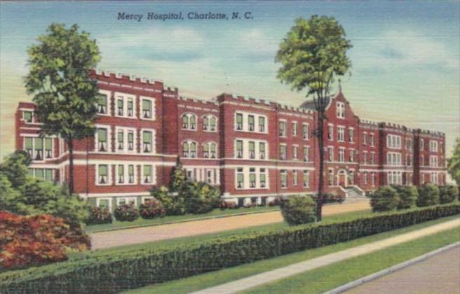 North Carolina Charlotte Mercy Hospital 1943 Curteich
