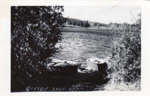 RP, Boat, Divide Lake, British Columbia, Canada, 1940-1950s