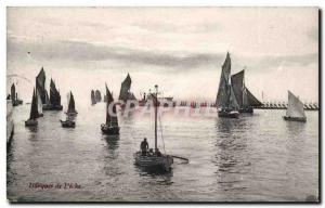 Belgium Postcard Old Boats fishing (boats)