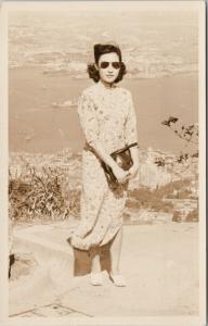 Young Woman Hong Kong China Unused 1940s Real Photo ?? Postcard E40