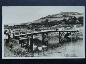 Dorset CHARMOUTH Bridge over the River Char c1940s RP Postcard by Valentine
