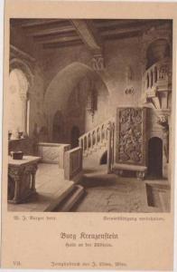 Interior View, Halle an der Giidseite, Burg Kreuzenstein, Austria 1900-10s