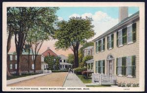 North Water Street Edgartown Massachusetts unused c1920's