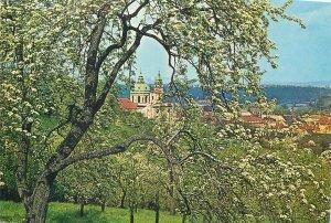 Czech Republic Prague St Nicholas Cathedral during spring Postcard