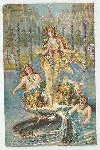 POSTCARD ~ Seattle Worlds Fair Cancel ~ Alaska Yukon Pacific ~ Women ~  1909