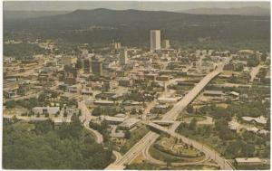 Aerial view of Business Section, Greenville, South Carolina, unused Postcard
