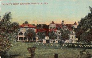 1929 FOND DU LAC WI St. Mary's Spring Sanitarium, mailed to Miss Amanda Korth