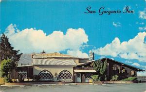 Banning California~San Gorgino Inn~White Corrugated Clay Roof~Postcard 1950s