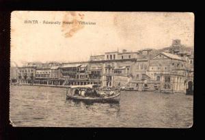 034217 MALTA Admiralty Hause Vittoriosa Vintage PC