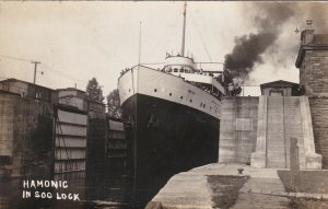 RP: SOO LOCK , Ontario , 20-30s ; Ship HAMONIC