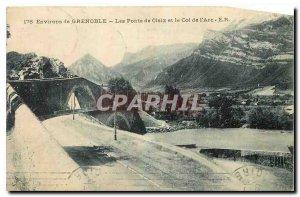 Old Postcard Environs de Grenoble The Bridges at Claix and the Col de l'Arc