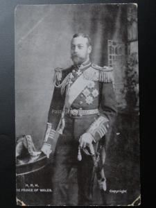 H.R.H. The Prince of Wales - Old Postcard