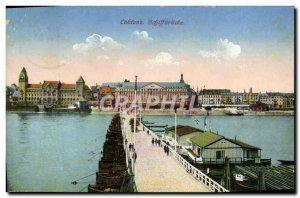 Old Postcard Koblenz Schiffbrucke