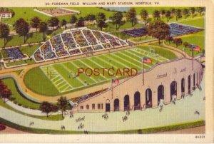 1944 FOREMAN FIELD, WILLIAM AND MARY STADIUM, NORFOLK, VA.