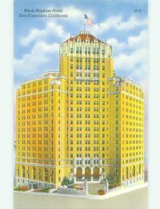 Unused Linen MARK HOPKINS HOTEL San Francisco California CA hr8403