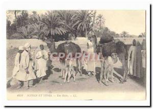 Algeria Algiers Old Postcard The Arab cemetery