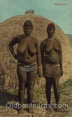 Zulu Woman African Nude Unused crease left edge, very light corner wear, Unused