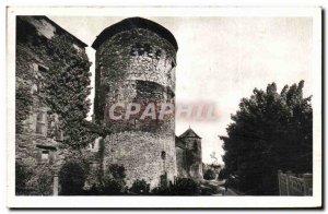 Old Postcard Glass Promenade du Vieux Remparts Val