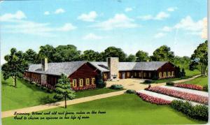 HINSDALE, IL SPINNING WHEEL Restaurant & Cabins  c1940s  Roadside Linen Postcard
