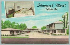 Valdosta Georgia~Shamrock Motel~Exterior & Room Views~Clover on Sign~1920s