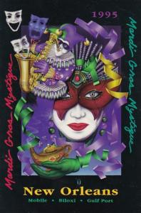 Louisiana New Orleans 1995 Mardi Gras Poster By Frankie Flores