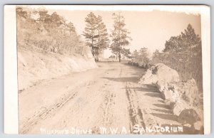 Colorado Springs~Rocks Guard Murphy's Drive~MWA Sanatorium Road~c1914 RPPC