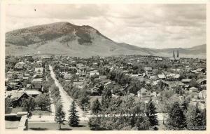 1950 Helena Montana Birdseye State Capitol RPPC Real Photo postcard 1381