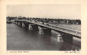 Baghdad Iraq King Ghazi Bridge Real Photo Antique Postcard J80054