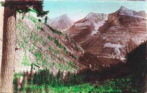 RP: The Loop showing four peaks,Rockies, Canada , 1900-10s