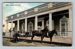 Cuban Volanta Cuba Vintage c1916 Postcard