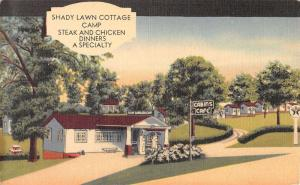Oakland Iowa Shady Lawn Cottage Camp Street View Antique Postcard K41867