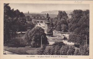 France Lyon La Place Carnot et la garde de Perrache