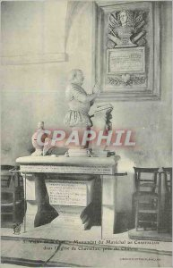 Old Postcard Valley of the Cure Marechal Monument in the Church of Chastellux...