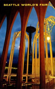 Washington Seattle World's Fair Space Needle Through The Arches Of The S...