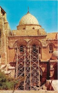 Jerusalem Israel~Holy Sepulcre~Dome~Scaffolding~1970s Postcard