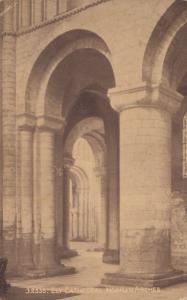Arches at Ely Church Cathedral 1917 WW1 Cambridge Postcard