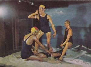 Australian Body Waxing Lifesavers Advertising Postcard