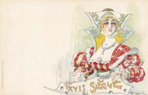 Jacques dit Jack ABEILLÉ : Art Nouveau Female Head Portrait , 1898 , #5/6