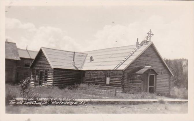 Canada Whitehorse The Old Log Church Real Photo