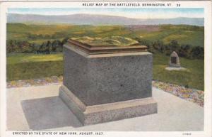 Vermont Bennington Relief Map Of The Battlefield Curteich
