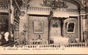 France Versaille Le Chateau La Chambre a coucher de Louis XIV