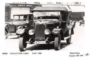 Fiat 1929 Collector Cars Croydon Old Automobile Car Real Photo Postcard J73643